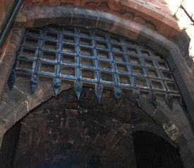 portcullis at carlisle castle
