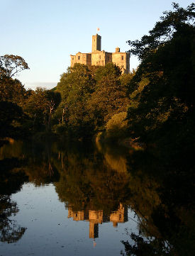 warkworth castle constructed mid 12th century