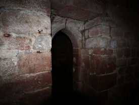 entrance to medieval dungeon